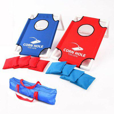 Portable Cornhole Toss Game Set with 8 Bean Bags and Travel Carrying Case