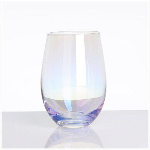 Crystal Rainbow Goblet Fading Coffee Milk Cup Glasses Drinking Glassware