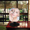 Makeup Mirror Household Portable Touch LED Light Makeup Mirror - BLACK