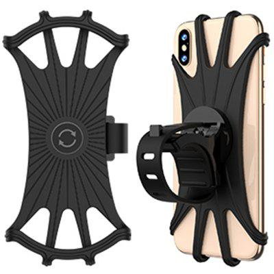 """MP - 8159 360 Degrees Rotatable Adjustable Silicone Bicycle Phone Mount Compatible with iPhone Xs MAX / X 4.5 """"-6.5 inch Phones"""