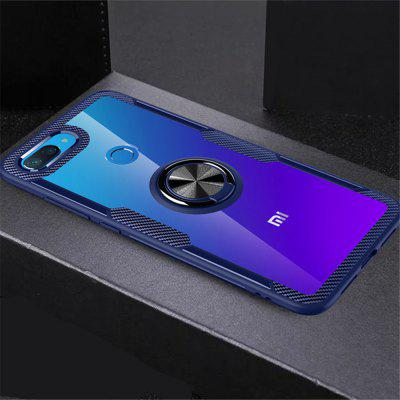 Rotation Ring Magnetic Kickstand Clear Protective Cover Case for Xiaomi 8 Lite