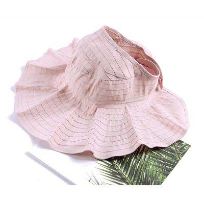 Woman Fashion Solid Foldable Breathable Sunscreen Summer Hat t0361