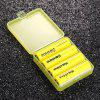 Soshine 18650 3.7V 3400mAh 3C Li-ion Rechargeable Battery With Case (4 Pack ) - YELLOW