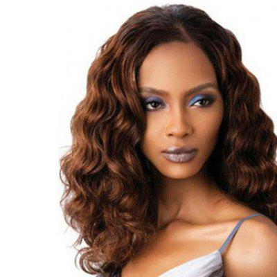 Elegant Slim Face Central Parting Hair Style Big Wave Long Wig