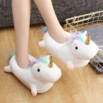 Gearbest Enchanted Light-Up Unicorn Slippers for Adult Unisex Plush Toys