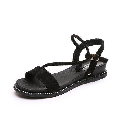 Flat Bottom Comfortable Buckle Women Sandals