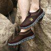 ZEACAVA Casual Mesh Men's Shoes Summer Breathable Sneakers - BROWN