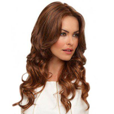 Elegant Fluffy Central Parting Hair Style Big Wave Wig