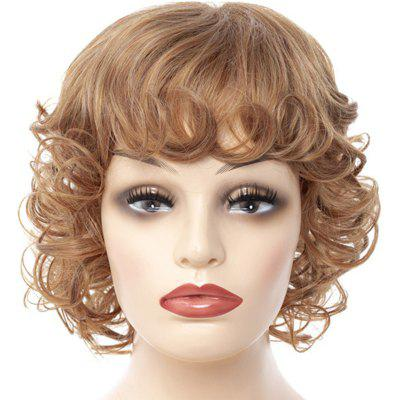 Fashionable Coiling fringe Big Curl Short Wig