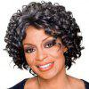 Wild-Curl Up Fluffy Small Curl Wig - BLACK