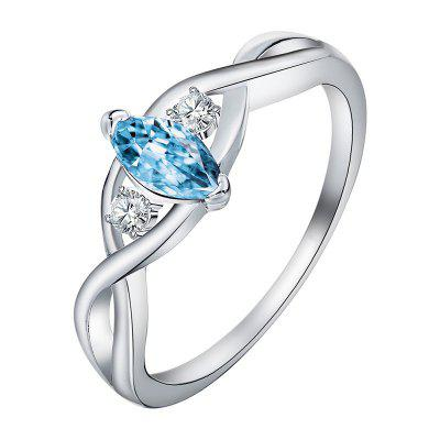 Fashion Creative New Hollow Crystal Winding Ring