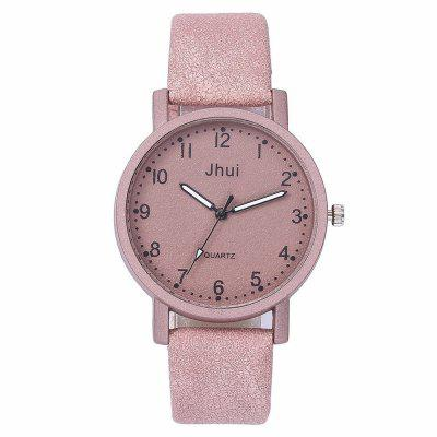 Fashion Casual Simple Digital Scale Literary Stone Quartz Watch