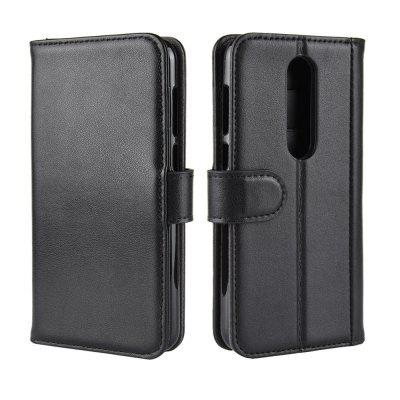 Protective Wallet Genuine Leather Flip Case for Nokia X6