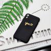 Gold Heart ME Candy Color Black Protective Soft Silicone Case for iPhone XR - GOLD