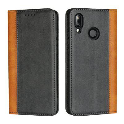 Calf Texture Magnetic Color Matching Protective Leather Case For HUAWEI P20 Lite