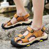 Men Casual Sandals Leather Outdoor Beach Shoes - LIGHT BROWN