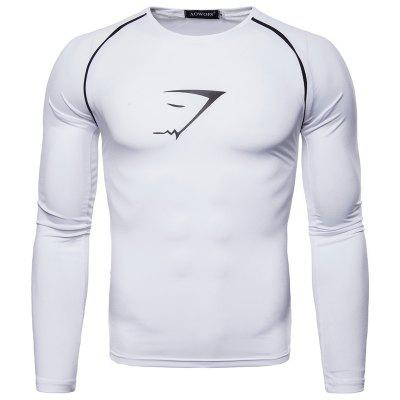 New Trend Printing Long-Sleeved Quick-Drying Sports T-Shirt