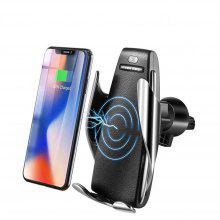 580e1467ca5a7 10W Car Qi Wireless Charger For iPhone Samsung Infrared Sensing Phone Holder