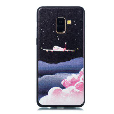 TPU Material Painted Embossed Phone Case para Samsung Galaxy A8 2018