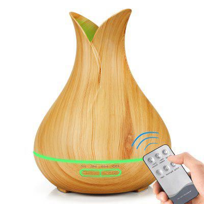 Remote Control 400ML Essential Oil Diffuser Wood Grain Aromatherapy Humidifier