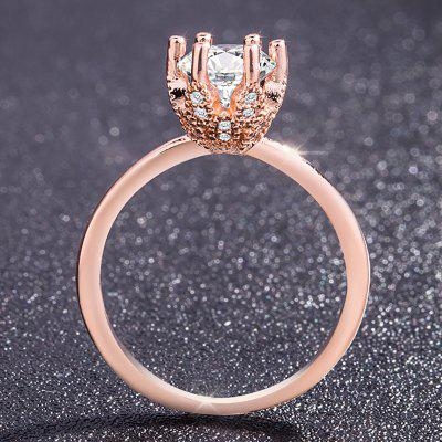 Exquisite 14K Rose Gold Jewelry Gift Party Bride and Ms. Wedding Ring