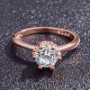Exquisite 14K Rose Gold Jewelry Gift Party Bride and Ms. Wedding Ring - ROSE GOLD