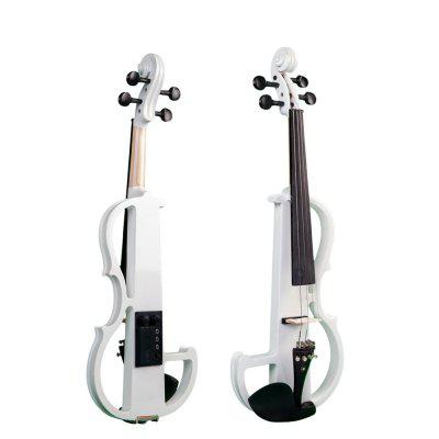 4/4 Silent Electric Violin Solid Wood Maple With Bow Hard Case Headphone Rosin
