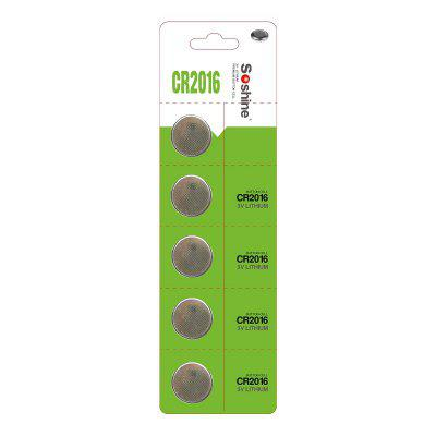 Soshine CR2016 Battery 5PCS