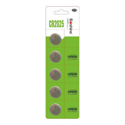 Soshine CR2025 Battery 5PCS