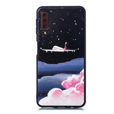 TPU Material Painted Embossed Mobile Phone Case for Samsung Galaxy A7 2018