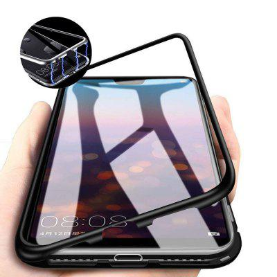 Magnetic Adsorption Metal Tempered Glass Case for Xiaomi Redmi Note 6/Note 6 Pro