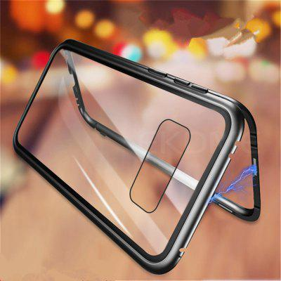 Magnetic Adsorption Metal Tempered Glass Case for Samsung Galaxy S10 Plus