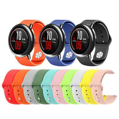 22MM Silicone Watchband Strap for AMAZFIT Pace Stratos 2 / 2S