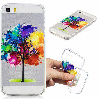 Rainbow Tree Pattern Soft TPU Case for iPhone 5/5S/5C/SE