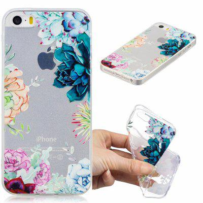 Blooming Flowers Pattern Soft TPU Case for iPhone 5/5S/5C/SE