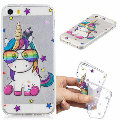 Cute Unicorn Pattern Soft TPU Case for iPhone 5/5S/5C/SE