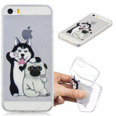 Lovely Dogs Pattern Soft TPU Case for iPhone 5/5S/5C/SE