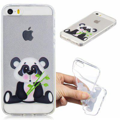 Lovely Panda Pattern Soft TPU Case for iPhone 5/5S/5C/SE