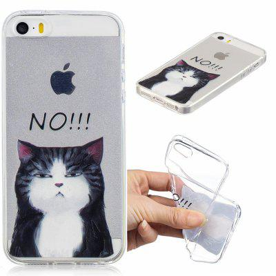 Cat Pattern Soft TPU Case for iPhone 5/5S/5C/SE