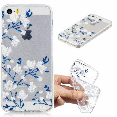 Magnolias Pattern Soft TPU Case for iPhone 5/5S/5C/SE