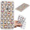 Mini Panda model moale TPU caz pentru iPhone 6 Plus - TRANSPARENT