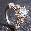 Fashion Lady 18k Rose Gold White Topaz Gemstone Engagement Ring - ROSE GOLD