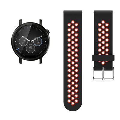 Silicone Watch Band Strap for Moto 360 2ND 42MM