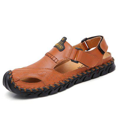Large-Size Foreign Trade Leather Explosive Handmade Sandals