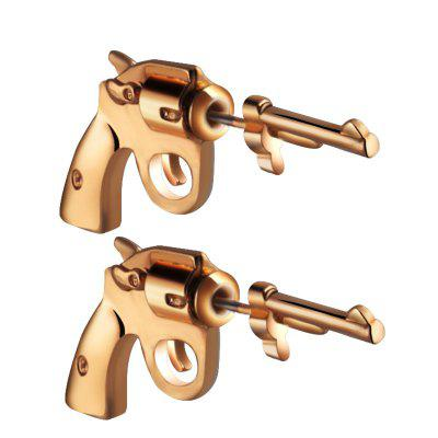 Trend Street Fashion Pistol Piercing Earrings Jewelry
