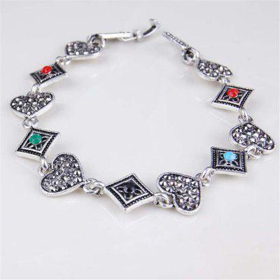 Retro Watch Heart-Shaped Diamond Bracelet