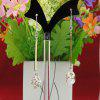 925 Solid Silver Jewelry Multicolor Beads Dangle Earring - MULTI