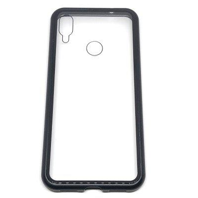 Magnetically Absorbing Metal Tempered Glass Flip Case for Xiaomi Redmi Note 7