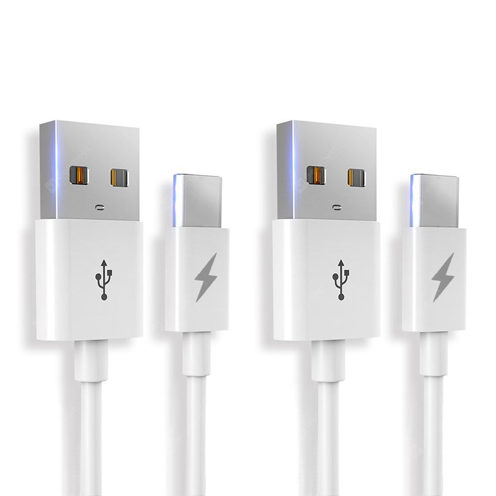 Minismile Fast Charging USB 3.1 Type-C Data Transfer Cable for Android Phones 2pcs