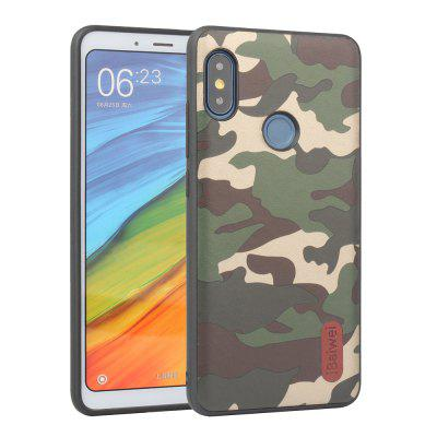 iBaiwei PU Camouflage Texture Pattern TPU Case for Xiaomi Redmi Note 5